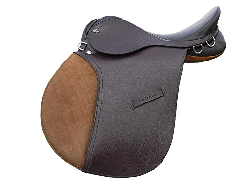 - Derby Top Trainer Jump Hunt English Leather Saddle (18