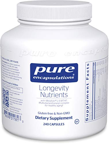 Pure Encapsulations - Longevity Nutrients - Multivitamin/Mineral Complex for Healthy Aging* - 240 Capsules