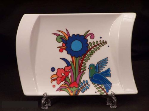 (Villeroy & Boch New Wave Acapulco 8-1/4-Inch by 6-Inch Pickle Dish/Gravy Stand)