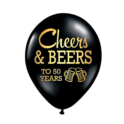 Cheers and Beers to 50 Years 50th誕生日パーティーバルーン(セットof 3 )   B06XBRV27C