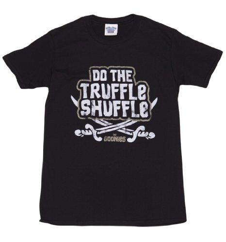 - Mens Goonies Chunk Do The Truffle Shuffle T Shirt Black/Charcoal Medium