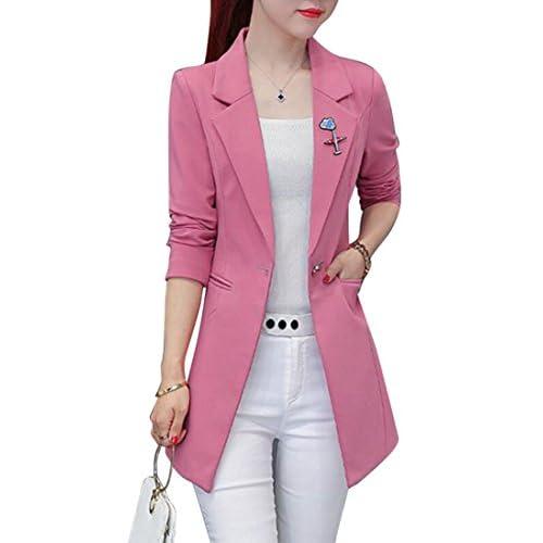 Wholesale BYWX-Women Casual Slim Fit Work Office Longline Blazer Jacket