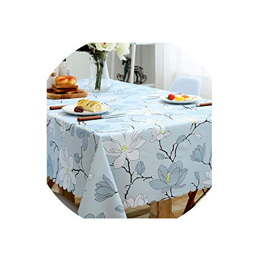 Pastoral Plaid Rectangular Waterproof Tablecloth Fabric Tea Table Cloth Waterproof Oilproof for Table Cover,Ylhk,90X90Cm (Cover Patio Madrid)