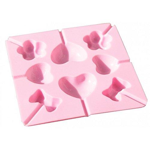 Cake POP Praline Forma silicona molde para 8cake pops Piruletas aprox. 15cm x 15cm Forma de cubitos de hielo
