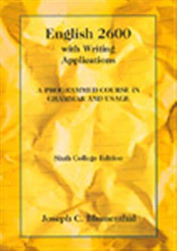 ENGLISH 2600 6E COLLEGE ED (College Series)