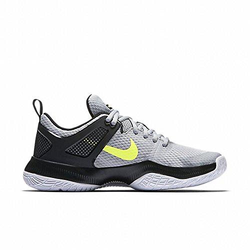 Nike Vrouwen Air Zoom Hyperace Volleybal Schoenen Wolf Grijs / Volt-zwart