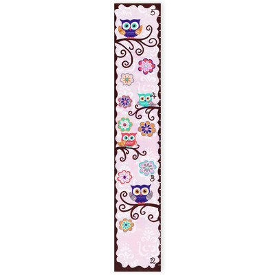 The Kids Room by Stupell Whimsical Owl Growth (Play Canvas Growth Chart)