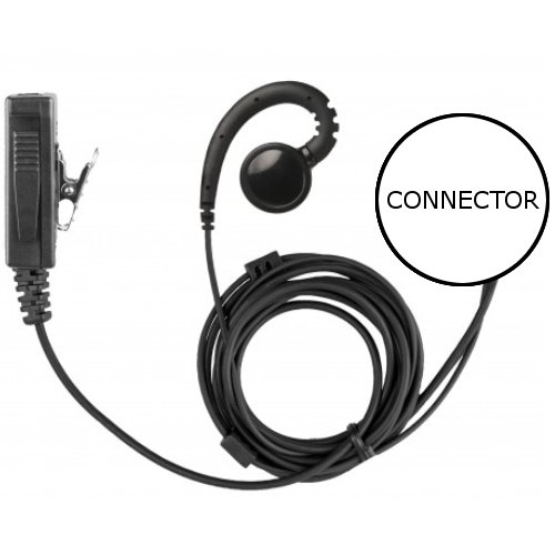 2-Wire Swivel Earpiece Mic Large Speaker + PTT for Motorola XPR3300e XPR3500e by Earpieces