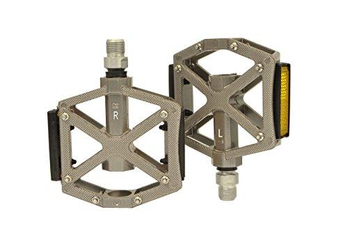 Inch Sealed Bearings (Lumintrail PD-603S MTB BMX Road Mountain Bike Platform Pedals Flat Alloy Sealed Bearing 9/16
