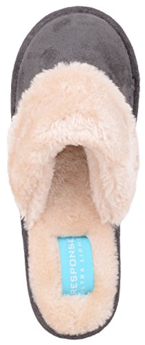 Inners Slippers with Memory Shoes Mules Slip Womens Foam Ladies Charcoal On Indoor 04vHnx
