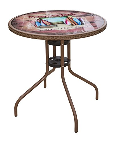 Panama Jack PJO-9001-BTC Café Collection Bistro Table, Chairman (Chairs Table Panama And)