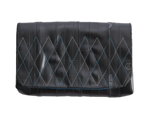 Alchemy Goods Broadway Clutch, Made from Recycled Bike Tubes, Aqua, Bags Central