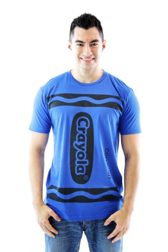 Crayola Crayon Cerulean Blue Adult Costume T-shirt (Adult -