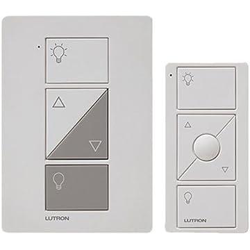 Lutron Caseta Wireless Smart Lighting Lamp Dimmer and Remote Kit, P-PKG1P-WH