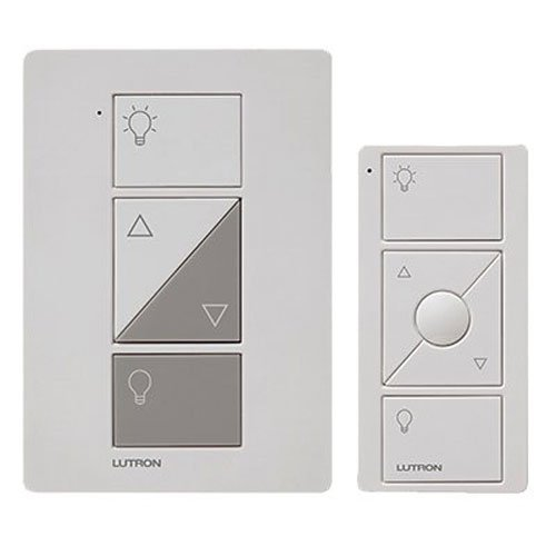 Lamp Floor Switch Dimmer - Lutron Caseta Wireless Smart Lighting Lamp Dimmer and Remote Kit, P-PKG1P-WH, White, Works with Alexa, Apple HomeKit, and the Google Assistant