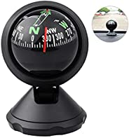 Car Compass Ball Mini Vehicle Navigation Ball Hiking Direction Guide Dashboard Dash Mount with Adhesive and De