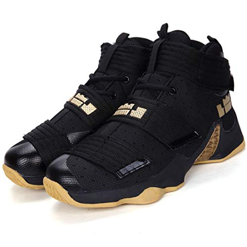 Mrh.Dar Original Professional Men Basketball Shoes Air Cushion Zoom High Ankle Top Sneakers Footwear Sport LBJ 13 Boys Outdoor Trainers Black Gold