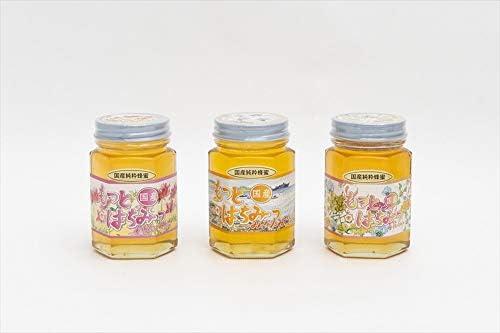 【国産純粋ハチミツ・養蜂園直送】れんげ蜂蜜 みかん蜂蜜 百花蜂蜜 各180g