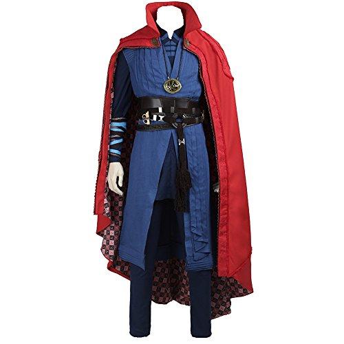 [Lardoo Men's Costume For Doctor Strange Stephen Steve Strange Outfit Cosplay] (Dr Strange Modern Costume)