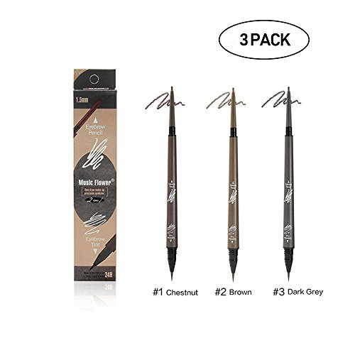 Aolvo Eyebrow Pencil Light Brown/Dark Brown/Gray Eyebrow Pencil Set - [2018 New Design] Eyebrow Pencil - 3D Waterproof Eyebrow Pencil for Girls Women Novice,0.02 0.004oz(0.5 0.1g)