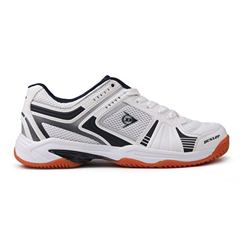 Dunlop Mens Indoor Squash Shoe Mens White/Navy 6 BlLLjq