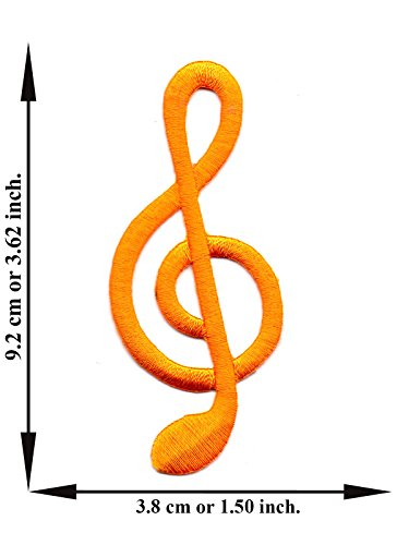 - Powerwarauto Yellow G Treble Clef Note Music Musical Sol Key Song Jazz Cartoon Funny Applique Embroidered Iron On Patch Crafts Sew DIY For Jeans T-Shirt Cap Bag