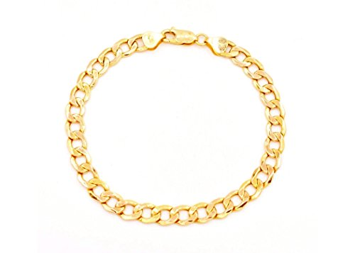 (18K Solid Yellow Gold Heavyweight 5.5mm Cuban Curb Link Chain Necklace- Italian Design- 18 Karat (8))