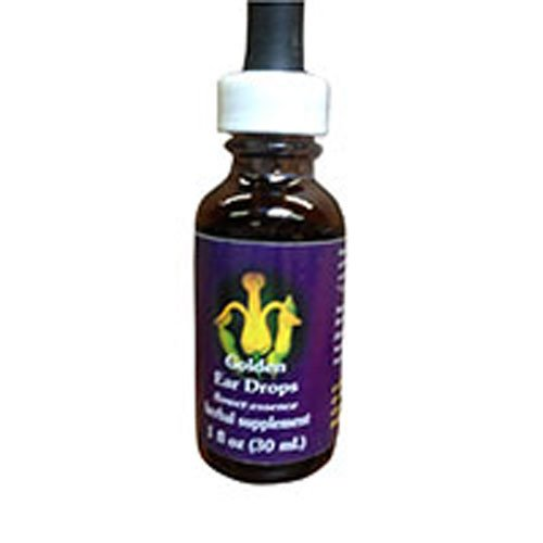 Golden Ear Drops Dropper, 0.25 oz by Flower Essence Services (Pack of 2)