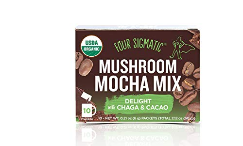 Four Sigmatic Mushroom Mocha with Chaga and Cacao (4 Boxes, 40 Packets)
