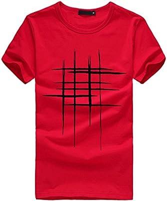 LuckyGirls Camisetas Hombre Originales Algodón Verano Manga Corta Rayas Polos Casual Camisas: Amazon.es: Deportes y aire libre