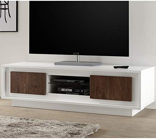 Kasalinea - Mueble para televisor, Color Blanco Lacado Mate y Madera: Amazon.es: Hogar