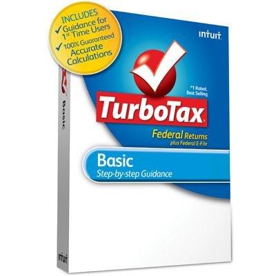 Intuit TurboTax Basic Federal Returns plus E-File 2012