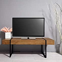Living Room ivinta Mid Century Modern TV Stand, TV Console, Modern Industrial Retro Entertainment Stand for Flat Screen TV for… modern tv stands