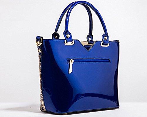 Sequin Crossbody Shoulder Handbag Female Package Bag aged Embroidered Shopping Bag Blue Bag Work Middle wn8AtYqE
