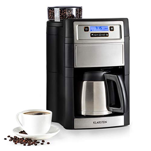 Klarstein Aromatica II Thermo – Cafetera goteo con molinillo cónico, Cafetera eléctrica con 5 niveles, Cafetera de goteo…