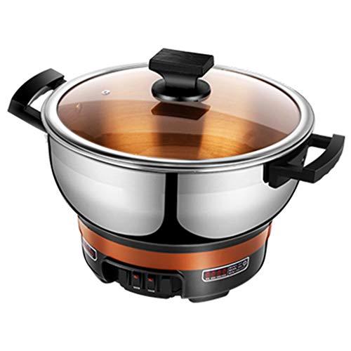 Multi-función eléctrica cocina arrocera hogar 2-4 personas arroz cocina wok olla cocinar una olla,Silver,M