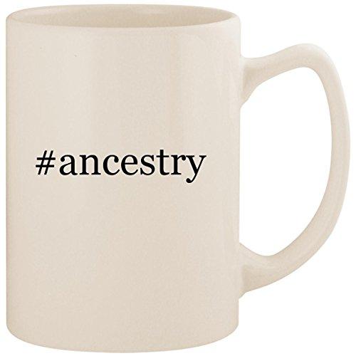 #ancestry - White Hashtag 14oz Ceramic Statesman Coffee Mug Cup