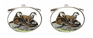 Otter Cufflinks. A Great pair of cufflinks/Tie Clip or Othet Accessory? The perfect Gift for some one special.