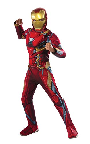 Rubie's Costume Captain America: Civil War Deluxe Iron Man Costume, Medium (Tony Stark Halloween Costume)