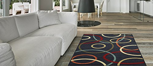 Maxy Home Hamam Oval Geometric Multicolor2 ft. 8 in. x 9 ft. 10 in. Rubber Backed Runner Rug by Maxy Home