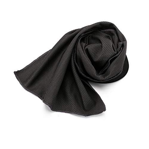 Sports Cooling Towel Ice Sports Towel Stay Cool with Microf iber Towel for Men and Women All ActivitiesDark Grey