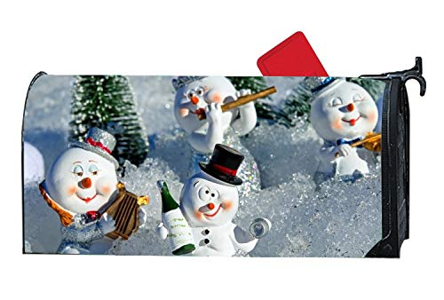 MALBX Snow Man Halloween Kitten Magnetic Mailbox Cover o'Lan