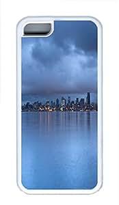 iPhone 5C Case Seattle Rainy Dusk TPU Custom iPhone 5C Case Cover White