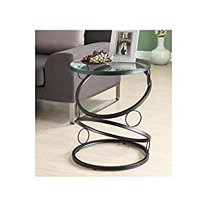 metal accent table. Monarch Specialties Metal Accent Table With Tempered Glass, Matte Black