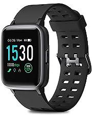 HOMVILLA Smartwatch, Fitness Armband Fitness Tracker Wasserdicht IP68 Fitness Watch mit Herzfrequenz Messgerät Schlafmonitor Intelligentes Armband Fitness Uhr Stoppuhr Kalorienzähler für Damen Herren
