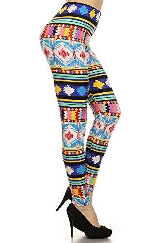 Always Polychromatic High Waist Full-Length Leggings - Designed Leggings