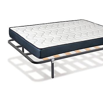 KAMA HAUS | Pack Colchón Viscoelástico + Somier 30x30mm | 80 x 180 cm. | Patas Incluidas |: Amazon.es: Hogar
