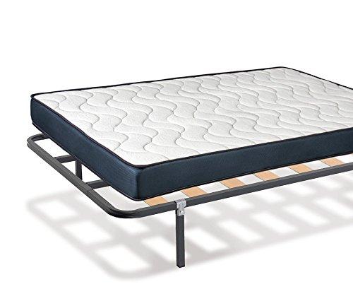 KAMA HAUS | Pack Colchón Viscoelástico + Somier 30x30mm | 135 x 200 cm. | Patas Incluidas |: Amazon.es: Hogar