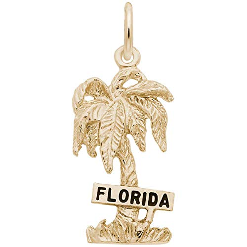 Florida Charm Plated Gold - Rembrandt Charms Florida Charm, Gold Plated Silver