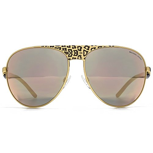 MICHAEL KORS Sunglasses MK 1006 1057R5 Black Gold Leopard/Black 62MM